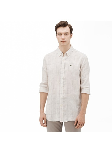 Lacoste Erkek Regular Gömlek CH0906.06A Bej